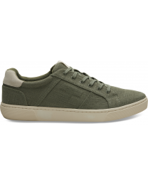 Green Canvas Leandro Men's Sneakers