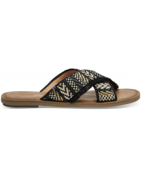 Black Woven Viv Women's Sandals