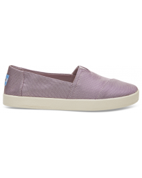 Women's Woven Purple Slip On