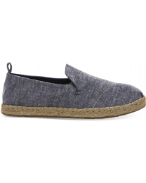 Navy Chambray Deconstructed Alpargatas Women's Espadrilles