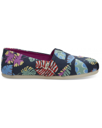 Navy Tropical Leaves Women's Classics